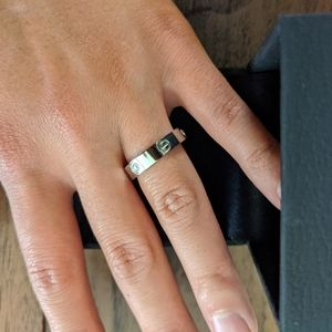 New Silver Plated LOVE Ring with Studs